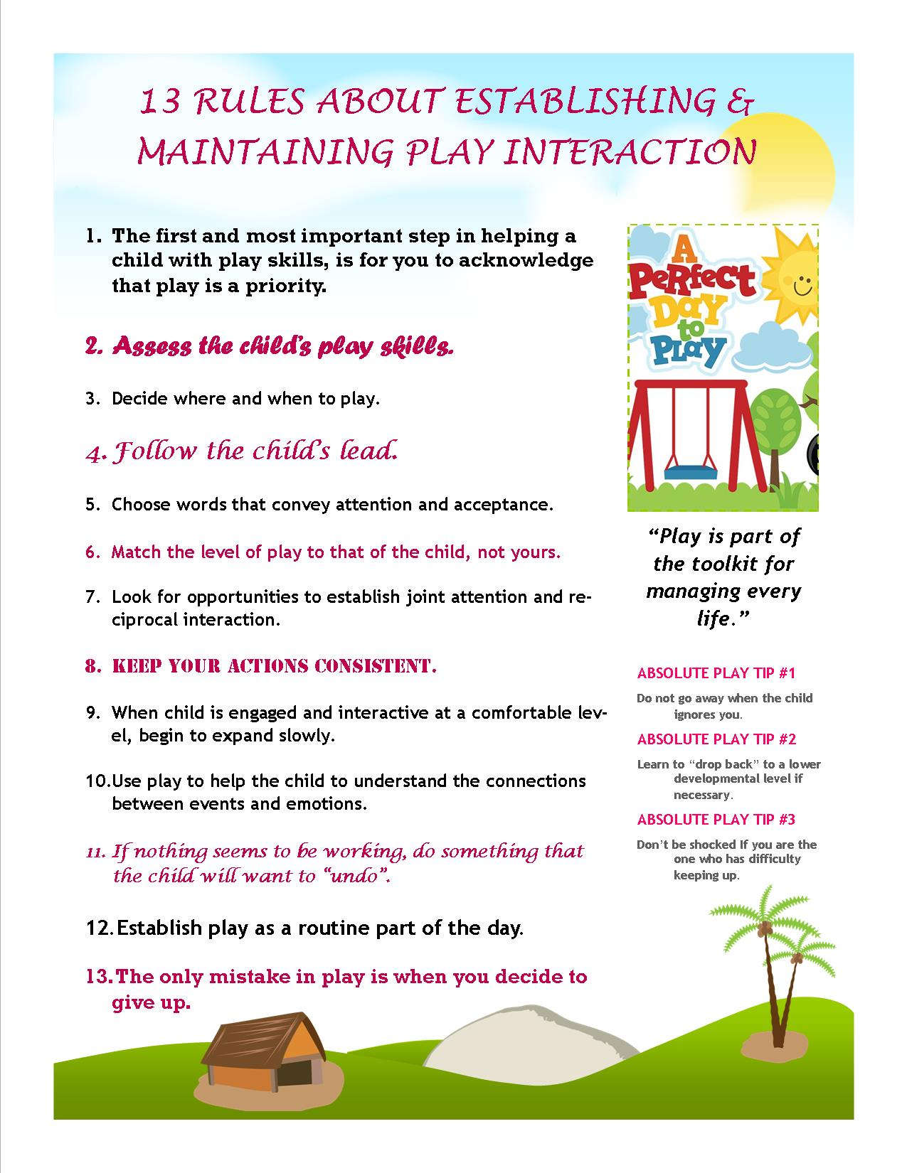 13 Rules About Play